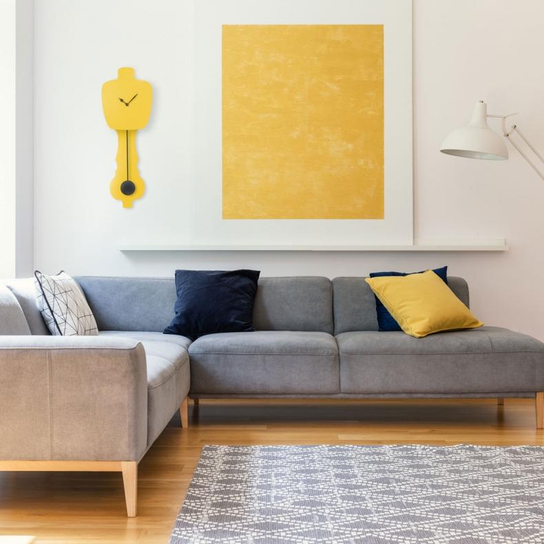 gele design slingerklok