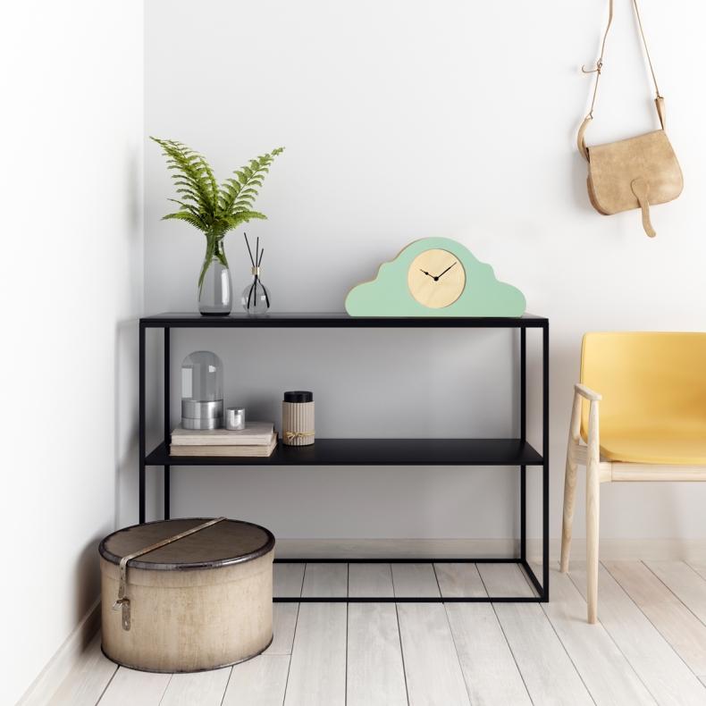 groene design tafel klok, green design table clock
