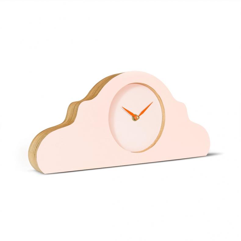 roze design klok voor op de schouw, mantel of tafel, pink design mantel, mantle or table clock