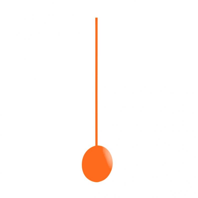 slinger voor klok neon oranje