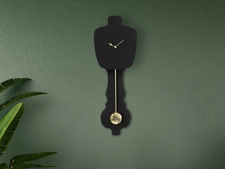 Black dutch design wall clock