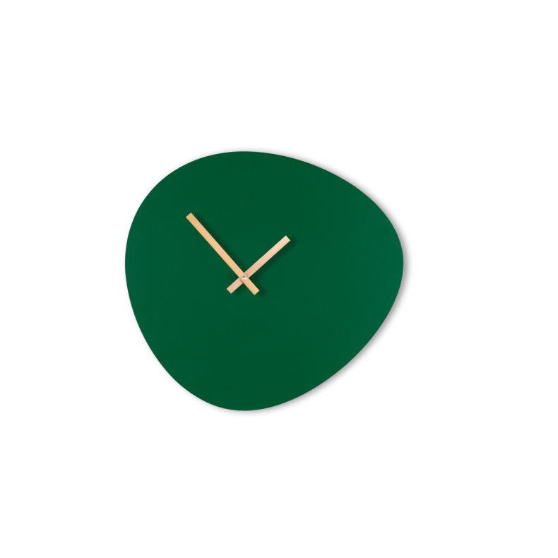 design klok wand groen
